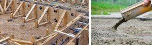 Установка, армирование и заливка бетоном свай